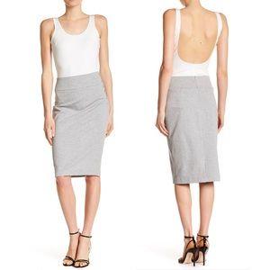 NWT Catherine Malandrino Heather Gray Midi Skirt